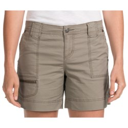 Woolrich Canoe Creek Hiking Shorts - UPF 50+, Stretch Cotton (For Women) in Shale
