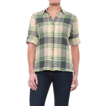 Woolrich Carabelle Shirt - Long Sleeve (For Women) in Balsam Green Plaid - Closeouts