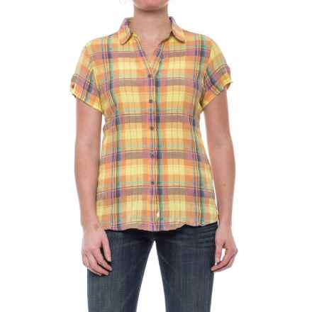 Woolrich Carrabelle Seersucker Shirt - Short Sleeve (For Women) in Apricot Wash - Closeouts