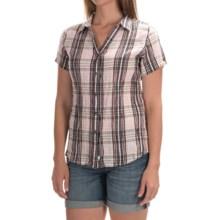 Woolrich Carrabelle Seersucker Shirt - Short Sleeve (For Women) in Chalk - Closeouts