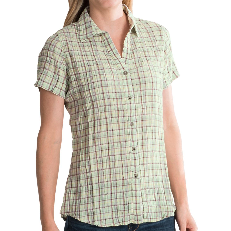 Woolrich carrabelle seersucker shirt for women for Short sleeve shirt for women