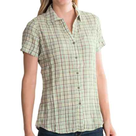 Woolrich Carrabelle Seersucker Shirt - Short Sleeve (For Women) in Fresh Mint - Closeouts