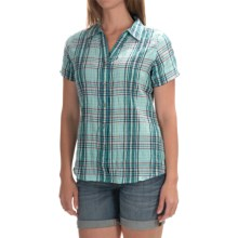 Woolrich Carrabelle Seersucker Shirt - Short Sleeve (For Women) in Robins Egg - Closeouts