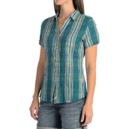 Woolrich Carrabelle Seersucker Shirt - Short Sleeve (For Women) in Seaport - Closeouts