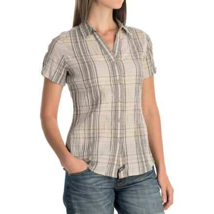 Woolrich Carrabelle Seersucker Shirt - Short Sleeve (For Women) in Silver Grey - Closeouts