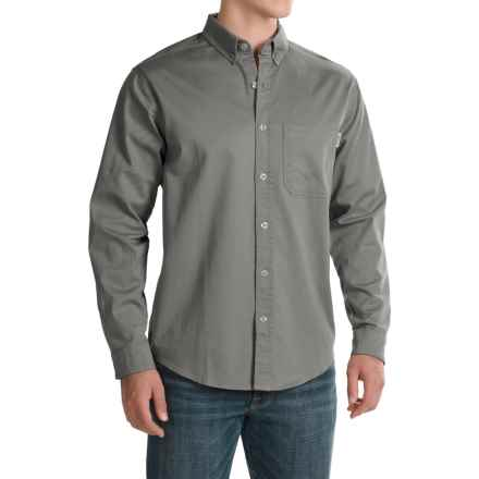 Woolrich Cast Iron Shirt - Long Sleeve (For Men) in Field Grey - Closeouts