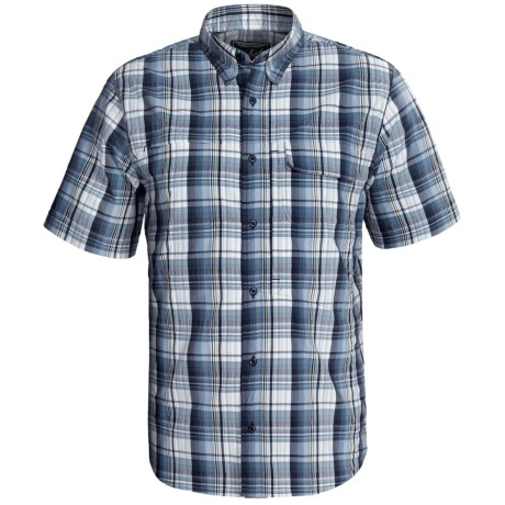 Woolrich Catalyst Plaid Shirt - UPF 40+, Short Sleeve (For Men) in Deep Indigo