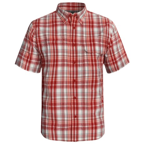 Woolrich Catalyst Plaid Shirt - UPF 40+, Short Sleeve (For Men) in Lobster
