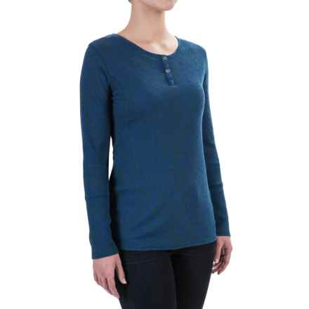 Woolrich Cedar Creek Henley Shirt - Thermal, Long Sleeve (For Women) in Ink - Closeouts
