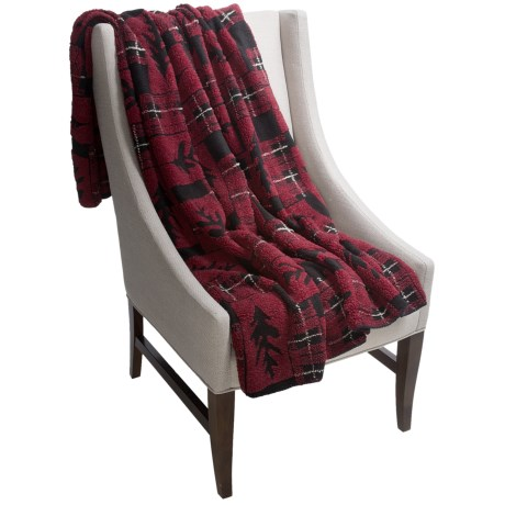 Woolrich Cedar Run Throw Blanket - Berber  in Leaf Block Plaid