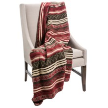 Woolrich Cedar Run Throw Blanket - Berber  in Stripe Geometric - Closeouts