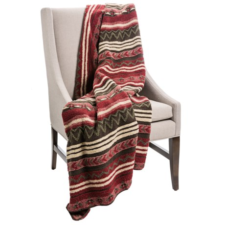 Woolrich Cedar Run Throw Blanket - Berber  in Stripe Geometric