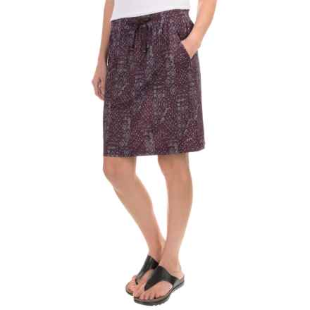 Woolrich Center Line Printed Skirt (For Women) in Dark Plum Print - Closeouts