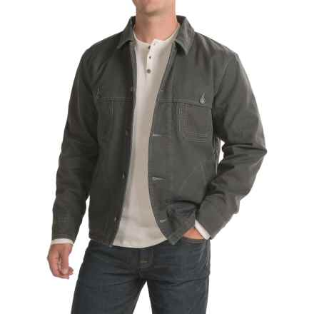Woolrich Centerpost Wool-Lined Barn Jacket - Insulated (For Men) in Coal - Closeouts