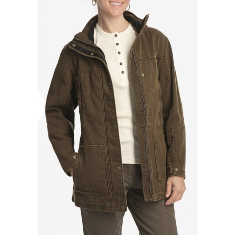 Woolrich Centerview Parka (For Women) in Saddle