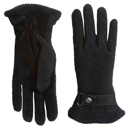 Woolrich Century Gloves - Suede-Wool, Fleece Lined (For Women) in Black - Closeouts