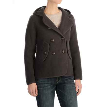 Woolrich Century Wool Peacoat - Button Front (For Women) in Coal - Closeouts