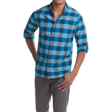 Woolrich Chambray Buffalo Check Shirt - Snap Front, Long Sleeve (For Men) in Blue Jay Buffalo - Closeouts