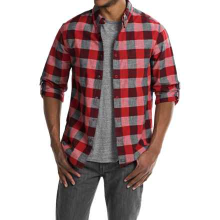 Woolrich Chambray Buffalo Check Shirt - Snap Front, Long Sleeve (For Men) in Old Red Buffalo - Closeouts