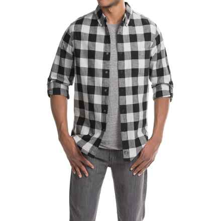 Woolrich Chambray Buffalo Check Shirt - Snap Front, Long Sleeve (For Men) in White/Black Buffalo - Closeouts