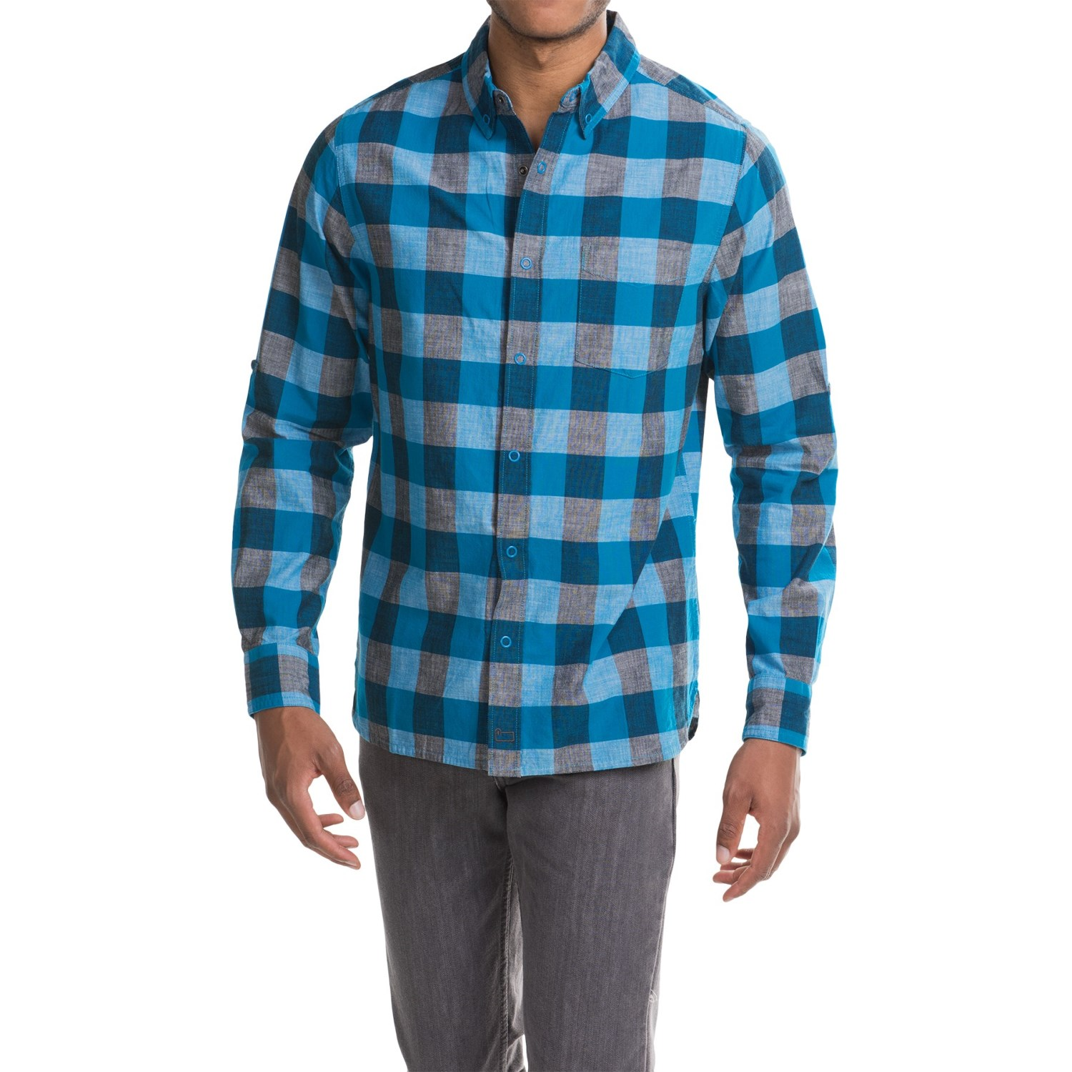 Woolrich Chambray Buffalo Check Shirt (For Men)