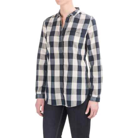 Woolrich Chambray Stag Buffalo Check Shirt - Snap Front, Long Sleeve (For Women) in Deep Indigo - Closeouts