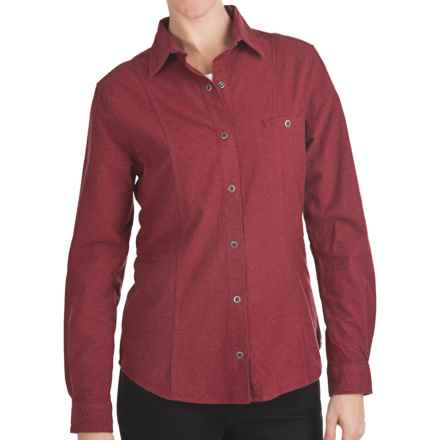 Woolrich Chamois Flannel Shirt - Snap Front, Long Sleeve (For Women) in Ruby Heather - Closeouts