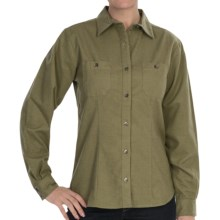 Woolrich Chamois Shirt - Button-Up, Long Sleeve (For Women) in Light Olive - Closeouts