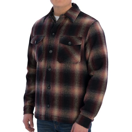 Woolrich Charley Shirt Jacket - Wool (For Men) in Black Ombre