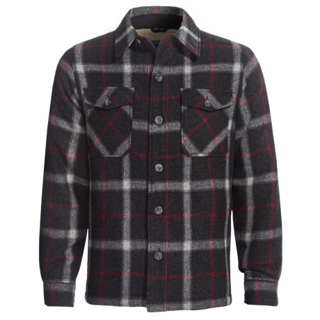 Woolrich Charley Shirt Jacket - Wool (For Men) in Woodchip Windowpane
