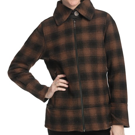 Woolrich Chatham Creek Plaid Jacket - Wool (For Women) in Bridle