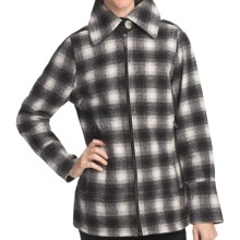 Woolrich Chatham Creek Plaid Jacket - Wool (For Women) in Winter White - Closeouts