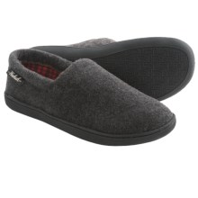 Woolrich Chatham Run Fleece Slippers (For Men) in Charcoal - Closeouts