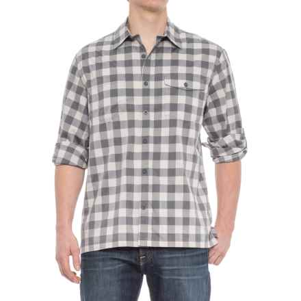 Woolrich Check Shirt - Roll-Up Long Sleeve (For Men) in Shadow - Overstock