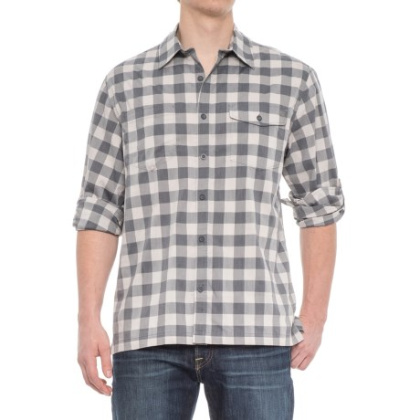 Woolrich Check Shirt - Roll-Up Long Sleeve (For Men) in Shadow