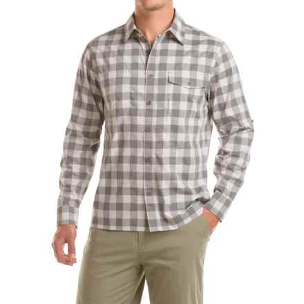 Woolrich Check Shirt - Roll-Up Long Sleeve (For Men) in Steel Gray - Closeouts