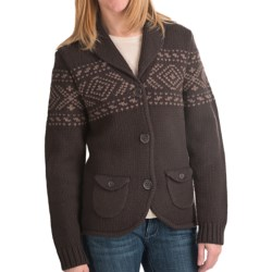 Woolrich Chester Valley Sweater - Lambswool (For Women) in Dark Roast