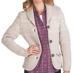Woolrich Chester Valley Sweater - Lambswool (For Women) in Stone