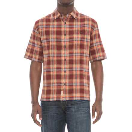 Woolrich Chill Out II Shirt - Short Sleeve (For Men) in Antique Red - Overstock