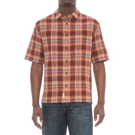 Woolrich Chill Out II Shirt - Short Sleeve (For Men) in Antique Red