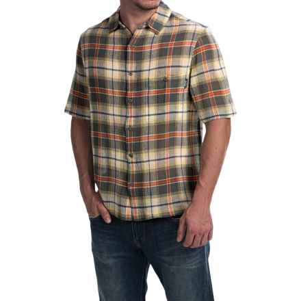 Woolrich Chill Out Pucker Plaid Shirt - Short Sleeve (For Men) in Field Gray - Closeouts