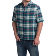 Woolrich Chill Out Pucker Plaid Shirt - Short Sleeve (For Men) in Nordic Blue - Closeouts