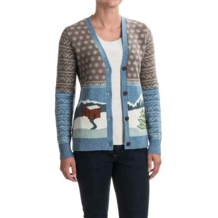 Woolrich Chimney Peak Cardigan Sweater - Lambswool (For Women) in Day Time Motif - Closeouts