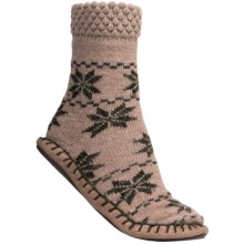 Woolrich Chimney Slipper Socks (For Women) in Khaki/Spruce - Closeouts