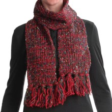 Woolrich Chunky Knit Scarf (For Women) in Ruby - Closeouts