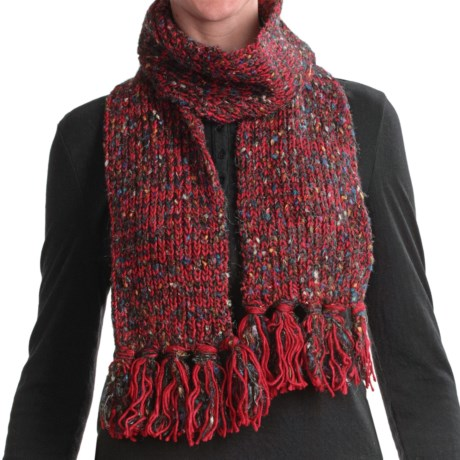 Woolrich Chunky Knit Scarf (For Women) in Ecru