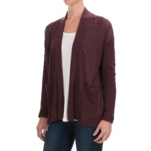 Woolrich Circle Nine Cardigan Sweater (For Women) in Dark Plum - Closeouts