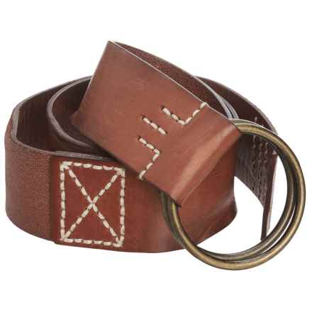 Woolrich Circle Ring Buckle Leather Belt (For Women) in Tobacco - Closeouts