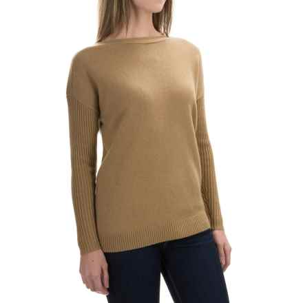 Woolrich Clapshaw Boxy Sweater (For Women) in Camel Heather - Closeouts