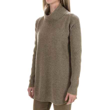 Woolrich Clapshaw Cowl Neck Tunic Sweater (For Women) in Burgandy Heather - Closeouts
